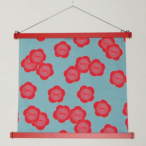 タペストリー棒 角型 小風呂敷用 赤