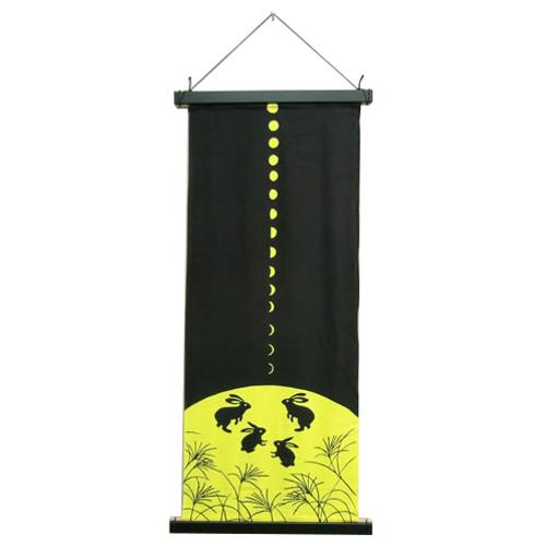 タペストリー棒 角型 手ぬぐい縦飾り用 黒