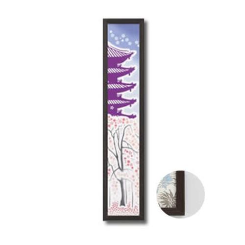 岐阜の木工屋 手ぬぐい額ハーフサイズ木目タイプ こげ茶木目 190×917mm