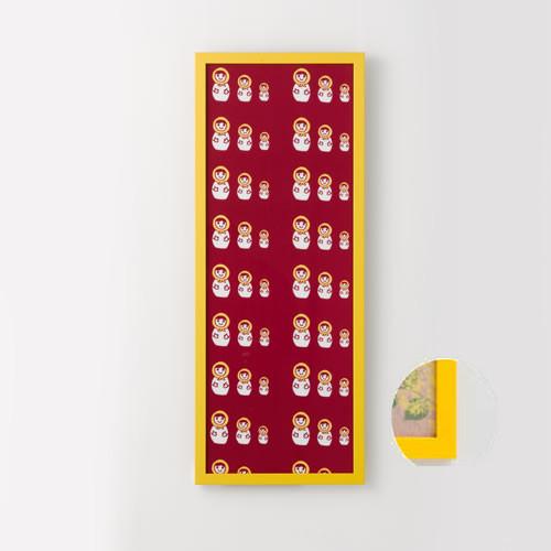 岐阜の木工屋 手ぬぐい額カラータイプ 黄色 361x917mm