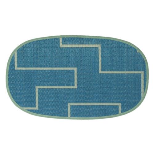 添島勲商店 OTO IGUSA(オトイグサ) KAKU-KAKU(カクカク) Blue DOOR MAT 玄関マット S
