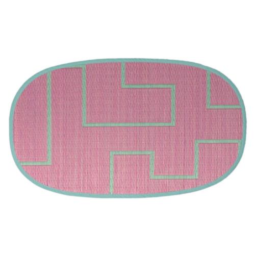 添島勲商店 OTO IGUSA(オトイグサ) KAKU-KAKU(カクカク) Pink DOOR MAT 玄関マット S