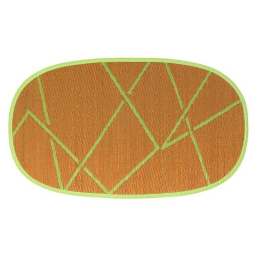 添島勲商店 OTO IGUSA(オトイグサ) ZIG-ZAG(ジグザグ) Orange DOOR MAT 玄関マット S