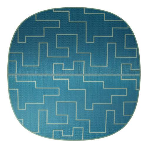 添島勲商店 OTO IGUSA(オトイグサ) KAKU-KAKU(カクカク) Blue RUG MAT ラグマット L