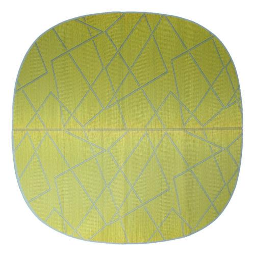 添島勲商店 OTO IGUSA(オトイグサ) ZIG-ZAG(ジグザグ) Yellow RUG MAT ラグマット L
