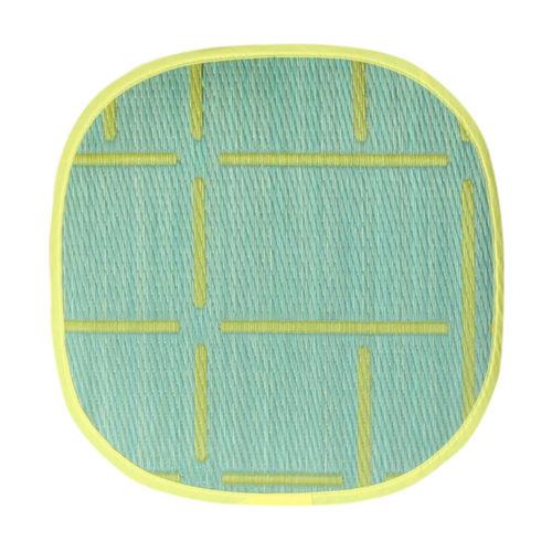 添島勲商店 OTO IGUSA(オトイグサ) MACHI-MACHI(マチマチ) Green SEAT CUSHION 座布団 L