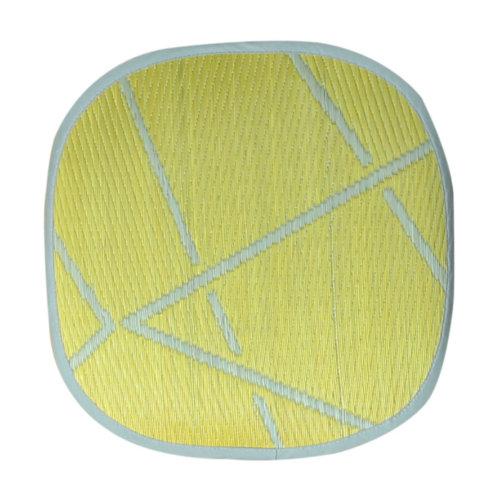 添島勲商店 OTO IGUSA(オトイグサ) ZIG-ZAG(ジグザグ) Yellow SEAT CUSHION 座布団 L