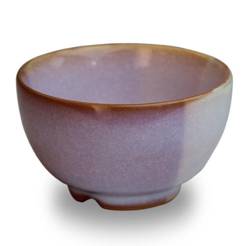 萩陶苑 椿秀窯 Shikisaiシリーズ まめ碗 ピンク×パープル