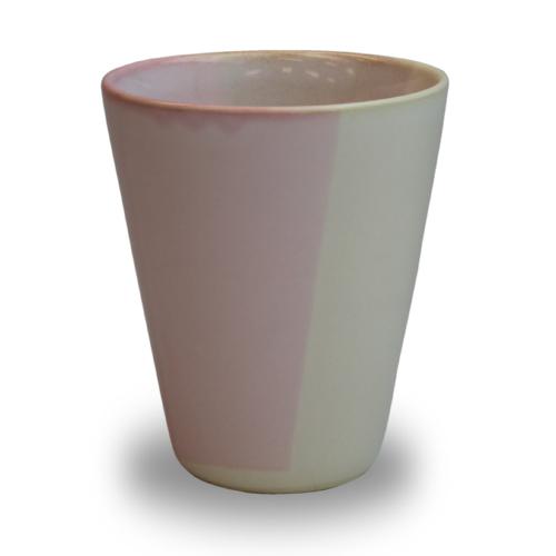 萩陶苑 椿秀窯 Shikisaiシリーズ カップ ピンク×ベージュ