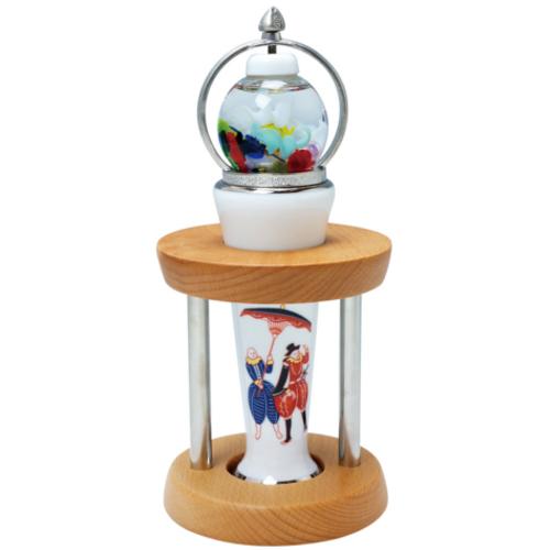 有田焼万華鏡 香蘭社 「オランダ人」 ガラス球型オイルチェンバースコープ