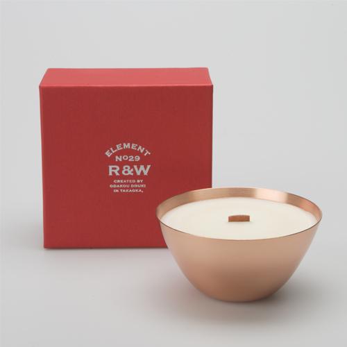 織田幸銅器 R&W MINT CANDLE(ミントキャンドル)ペパーミント&グリーンティ