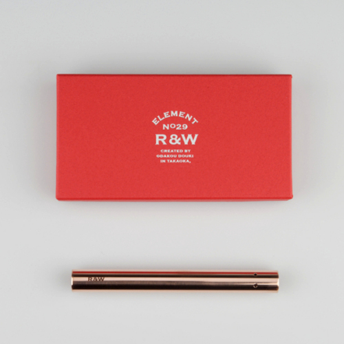 織田幸銅器 R&W FLOWER VASE HALF(フラワーベースハーフ)鏡面仕上げ