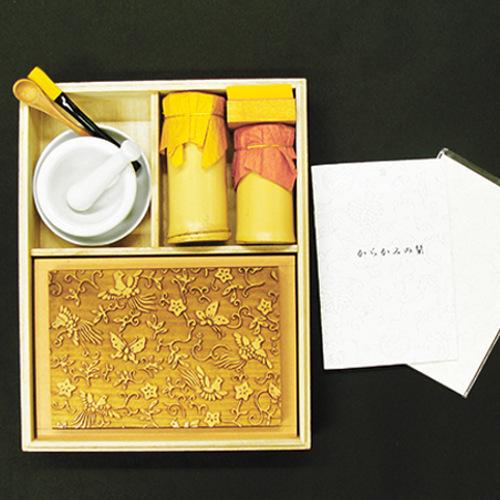 京からかみ Karakami Kit ポストカード版 鳳凰蝶唐草