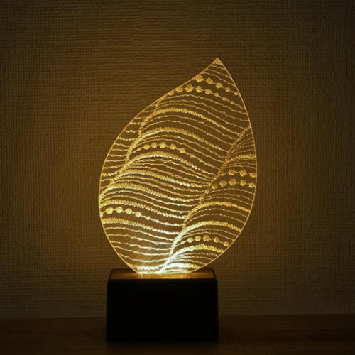Feel Lab(フィールラボ)LEDライト Leaf(葉っぱ型)ろうそく色