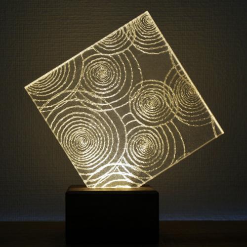 Feel Lab(フィールラボ)LEDライト Leaf(スクエア型)電球色