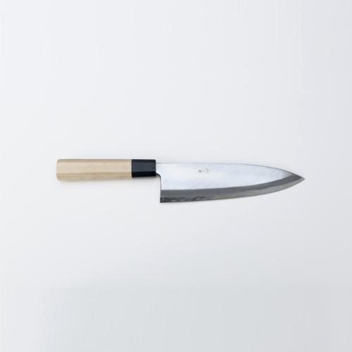 二唐刃物鍛造所 磨き仕上げ 霞和包丁 出刃6寸