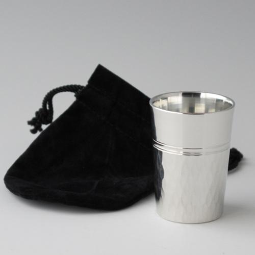 錫器 ウィスキーカップ(ツチメ)