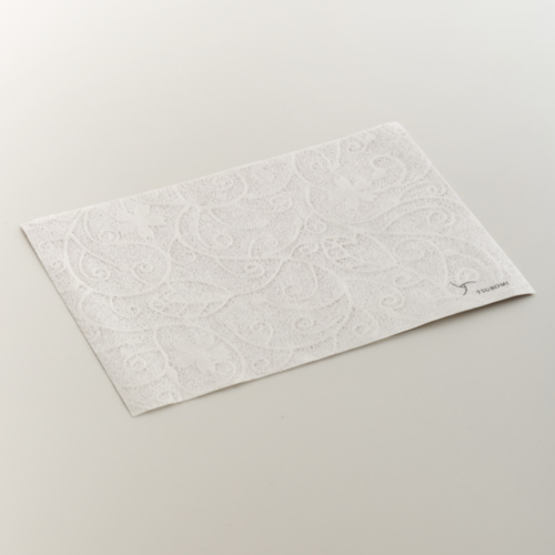 越前和紙 さくら落水紙ランチョンマット5枚セット(TSUBOMIロゴ入)