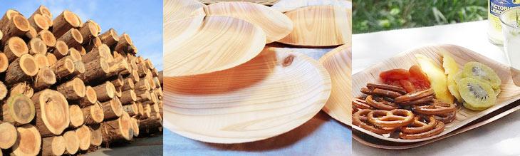 いつもの紙皿を「木のお皿」に変えてみませんか?