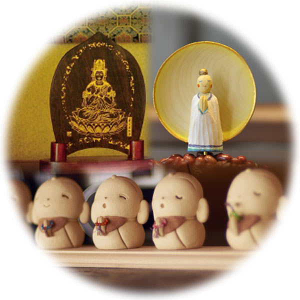 癒しのある新しい仏像