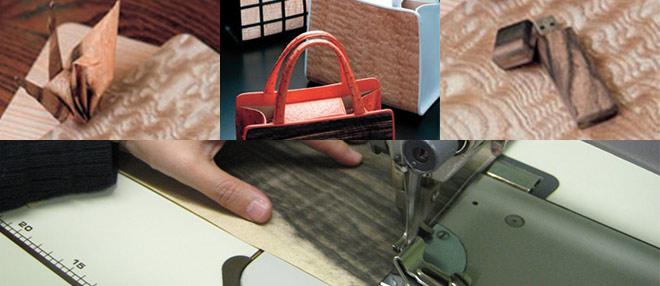 ミシンで縫える木のシート