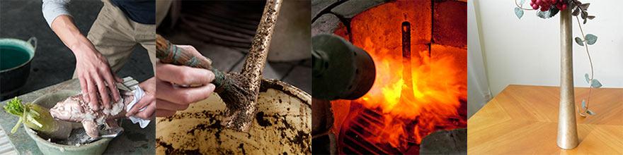 糠焼きや大根おろしを使った煮色という技法は昔からの先人の知恵によるもの