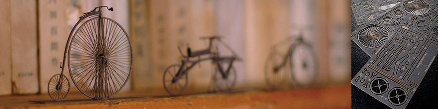 常識はずれの緻密なペーパークラフト、クラシック自転車シリーズ