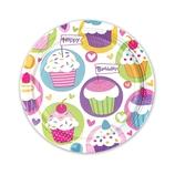 バースデー紙皿 8枚入 541291 カップケーキ