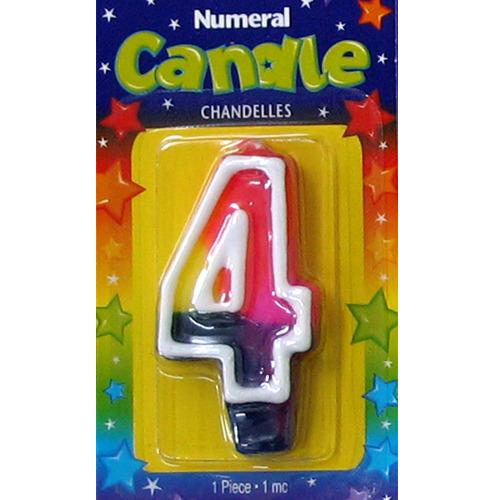 <東急ハンズ> お誕生日や記念日に最適!パーティーで大活躍のナンバーキャンドルです。 ナンバーキャンドル#4 56031−44