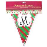 【クリスマス】アムスキャン メリークリスマス ペーパーペナントバナー 120224│パーティーグッズ 装飾用品