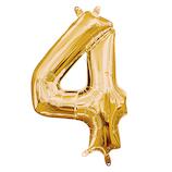 宝興産 ナンバーシンボル ナンバー4 33083 ゴールド│パーティーグッズ 風船・バルーン