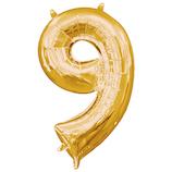 宝興産 ナンバーシンボル ナンバー9 33093 ゴールド│パーティーグッズ 風船・バルーン
