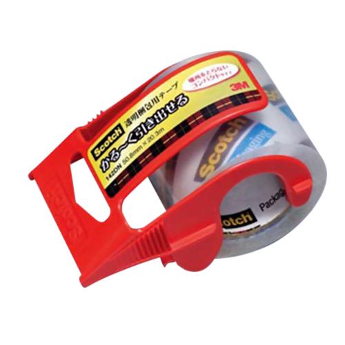 3M かる〜く引き出せる 透明梱包用テープ 145DN