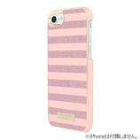 【iPhone7/8】 Hamee kate spade ラップケース グリッターローズゴールド