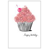 ホールマーク Laser Detailed Cupcake 誕生お祝いカード 736392│カード・ポストカード バースデー・誕生日カード