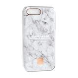 【iPhone8Plus/7Plus】 ハッピープラグス(Happy Plugs) スリムケース 9150 ホワイトマーブル