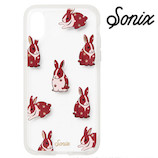 【iPhoneX】 Sonix CLEAR COAT ケース CHUBBY BUNNY