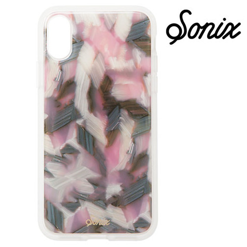 【iPhoneX】 Sonix CLEAR COAT ケース PINK TORT