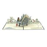 ラブポップ(Lovepop) Happy Birthday Stegosaurus ハッピーバースデーステゴザウルス│カード・ポストカード グリーティングカード