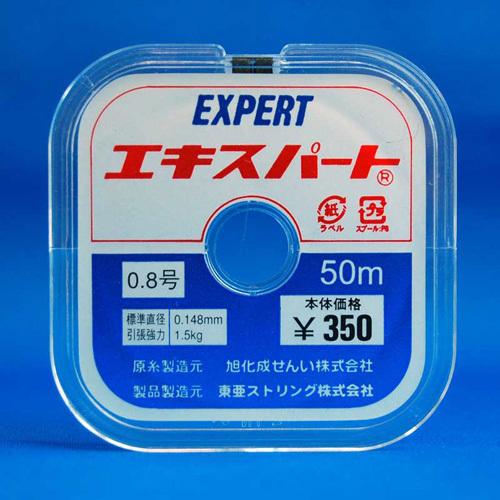 【クリックで詳細表示】東亜ストリング テグス エキスパート 0.8号 50m巻き