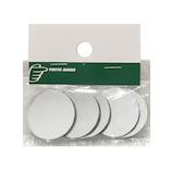 カンキ化工材 アクリル円板 ミラークリア 5枚入│樹脂・プラスチック アクリル板