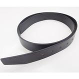 三井 牛革 3.5cm幅 ベルト用オビ 無地ロング №2196 ブラック