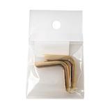 中西 角金 厚口 W‐1 ゴールド│レザークラフト用品 皮革用金具