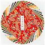 長谷川松壽堂 手漉千代紙セット 960 特大 24枚│折り紙・和紙工芸 千代紙