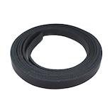 中西 牛オイル革ひも 10mm巾×180cm 黒│レザークラフト用品 革ベルト・ベルト材料