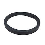 中西 牛オイル革ひも 15mm巾×180cm 黒│レザークラフト用品 革ベルト・ベルト材料