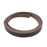中西 牛オイル革ひも 15mm巾×180cm チョコ│レザークラフト用品 革ベルト・ベルト材料