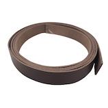 中西 牛オイル革ひも 20mm巾×180cm チョコ│レザークラフト用品 革ベルト・ベルト材料