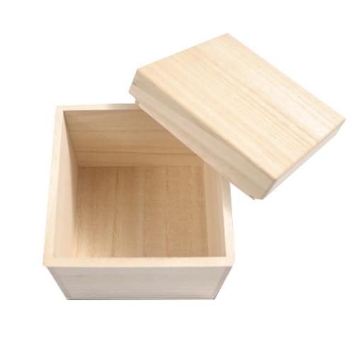 箱義桐箱店 桐箱 正方形(3)│収納・クローゼット用品 木箱