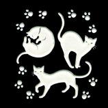 ほつま高蒔絵 白ネコ 足跡 628